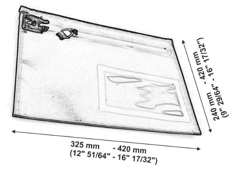 envelope shaped paris mm e pollici
