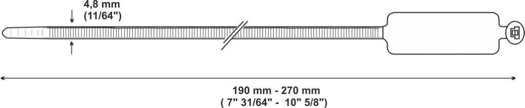 fascetta riapribile 03 mm e pollici - LEG961005