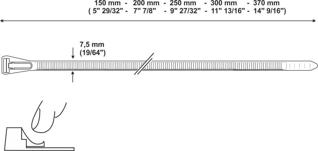 fascetta riapribile mm e pollici