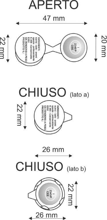 roundcrimp - Sigilli di sicurezza in alluminio per salumi.