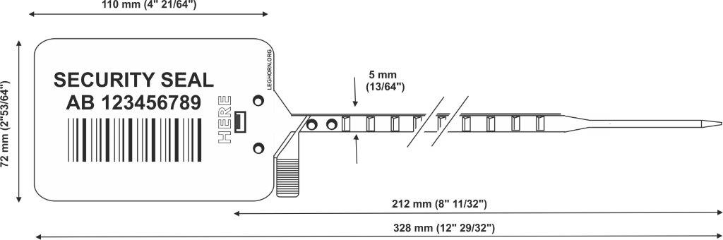 titanseal 328 mm e pollici adjustable plastic seals