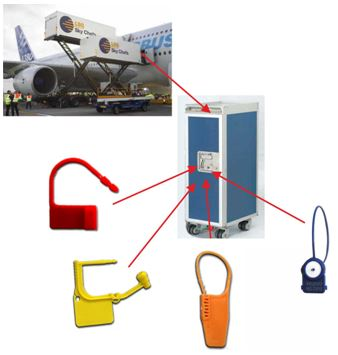 sigilli per catering aereo - trasporti aerei - AEREOPORTI